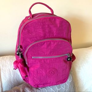 Kipling Bags - Kipling Seoul Nylon Backpack + Monkey Key Chain